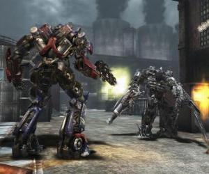 Puzzle Deux transformers sont des robots