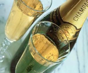 Puzzle Deux verres de champagne