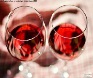 Puzzle Deux verres de vin