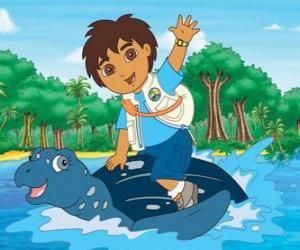 Puzzle Diego à la mer sur le carapace d'une tortue marine