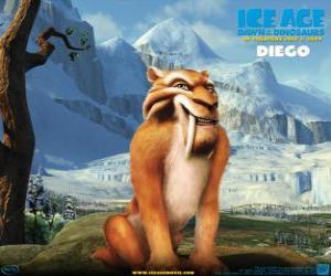 Puzzle Diego, le tigre à dents saber