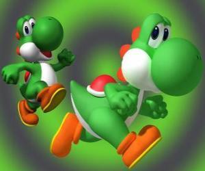 Puzzle Dinosaur Yoshi est le meilleur ami de Mario