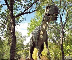 Puzzle Dinosaure dans la forêt