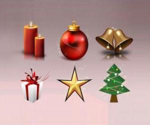Puzzle Diverses décorations de Noël