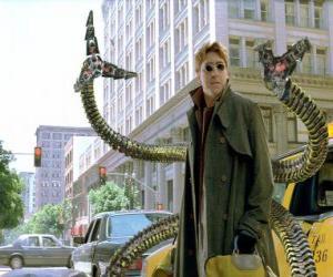 Puzzle Docteur Octopus est un scientifique très intelligent folle, l'un des plus grands ennemis de Spider-Man