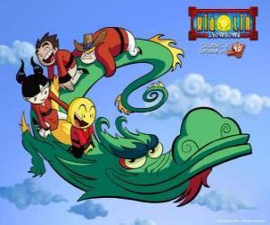 Puzzle Dojo Kanojo Cho, le dragon des guerriers Xiaolin peut changer de forme