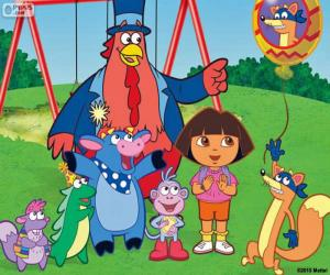 Puzzle Dora avec quelques amis