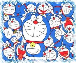 Puzzle Doraemon est un chat cosmique qui vient de l'avenir