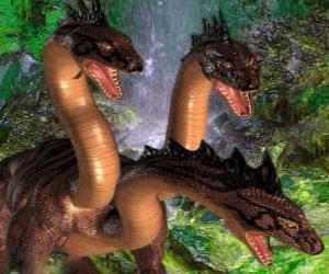 Puzzle Dragon à trois têtes