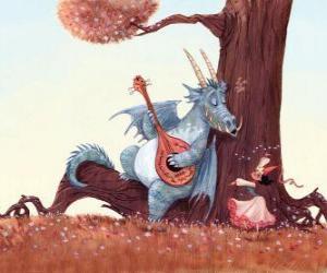 Puzzle Dragon chanté une chanson à la princesse