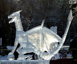 Puzzle Dragon de glace