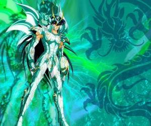 Puzzle Dragon Shiryu, l'un des cinq héros de Saint Seiya. Le chevalier de Bronze de la constellation du Dragon