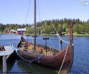 Puzzle Drakkar ou navire viking