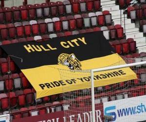 Puzzle Drapeau de Hull City A.F.C.