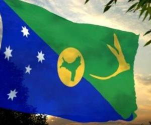 Puzzle drapeau de l'île Christmas