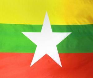 Puzzle Drapeau de la Birmanie