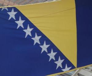 Puzzle Drapeau de la Bosnie-Herzégovine