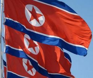 Puzzle Drapeau de la Corée du Nord