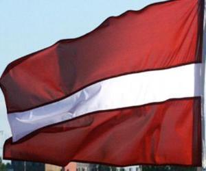 Puzzle Drapeau de la Lettonie
