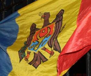 Puzzle Drapeau de la Moldavie
