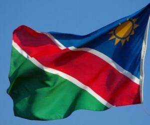 Puzzle Drapeau de la Namibie