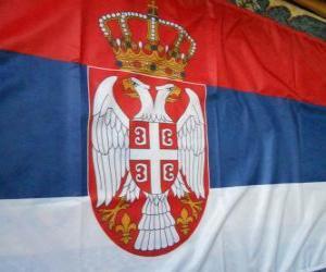 Puzzle Drapeau de la Serbie