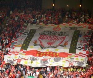 Puzzle Drapeau de Liverpool F.C.