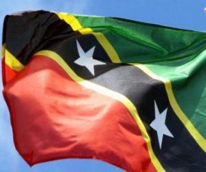 Puzzle Drapeau de Saint-Kitts-et-Nevis