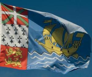 Puzzle Drapeau de Saint Pierre et Miquelon