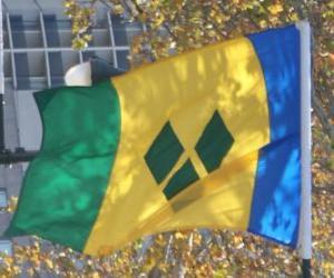 Puzzle Drapeau de Saint-Vincent-et-les Grenadines