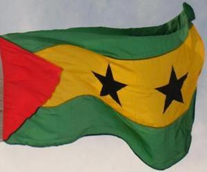 Puzzle Drapeau de Santo Tomé et Principe