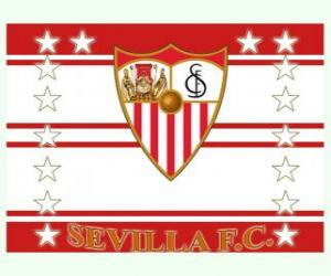 Puzzle Drapeau de Sevilla FC