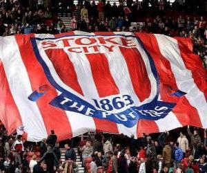 Puzzle Drapeau de Stoke City F.C.