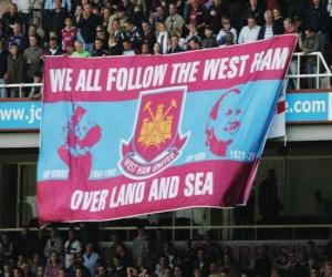 Puzzle Drapeau de West Ham United F.C.