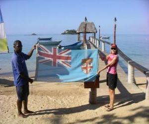 Puzzle Drapeau des îles Fidji