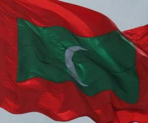 Puzzle Drapeau des Maldives
