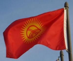 Puzzle Drapeau du Kirghizistan
