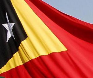 Puzzle Drapeau du Timor Oriental