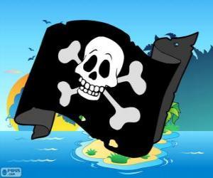 Puzzle Drapeau pirate Junior