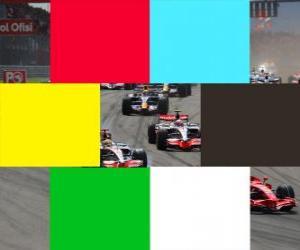 Puzzle Drapeaux de couleurs F1