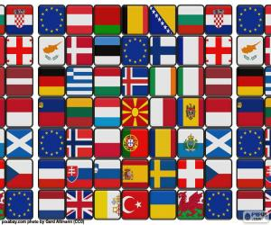 Puzzle Drapeaux de l'Europe