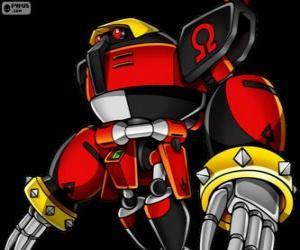 Puzzle E-123 oméga, robot créé par le docteur Eggman