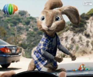 Puzzle EB, le rebelle lapin de Pâques
