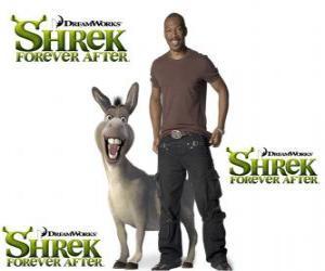 Puzzle Eddie Murphy est la voix de âne, dans le dernier film Shrek 4 ou Shrek, il était une fin