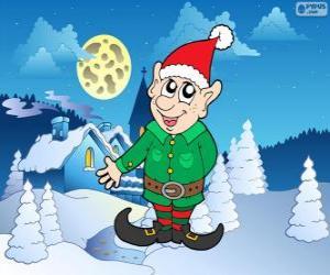 Puzzle Elfe de Père Noël