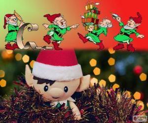Puzzle Elfes de Noël