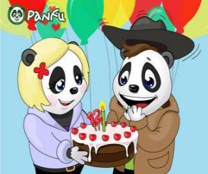 Puzzle Ella apporte un gâteau pour fêter son anniversaire Max