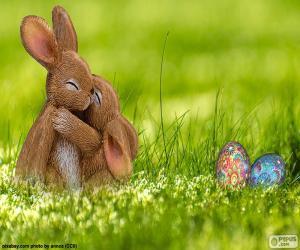 Puzzle Embrassé de lapins de Pâques