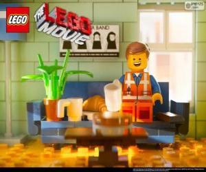 Puzzle Emmet, le protagoniste du film Lego