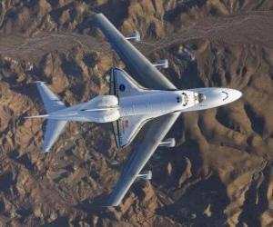 Puzzle Endevor navette spatiale menée sur un 747